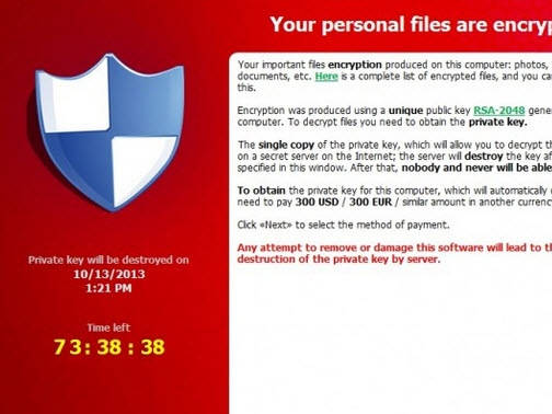Virus cryptolocker