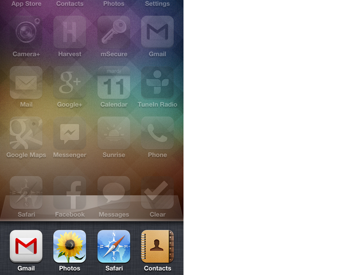 apps ouvertes